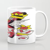 tatoo Mugs featuring Tatoo ART 5  by The Greedy Fox