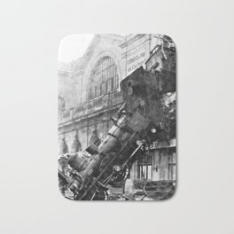 Train wreck at Montparnasse Station (1895) Bath Mat