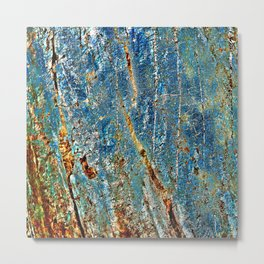 Blue Archetypal Structures Metal Print