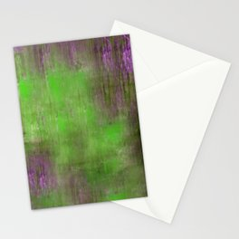 Green Color Fog Stationery Cards