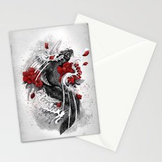 Black Koi Stationery Cards