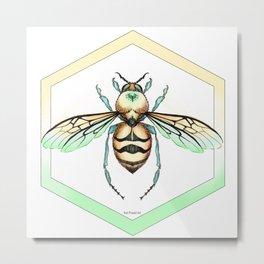 Queen/King Bee Warm Colors Metal Print