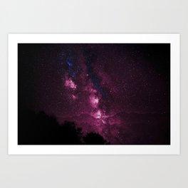 Pink Galaxy Sky Delight Art Print