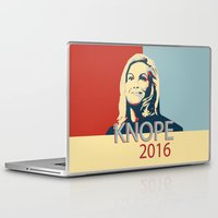 leslie knope Laptop & iPad Skins featuring KNOPE 2016 by studiomarshallarts