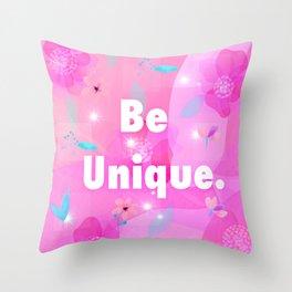 Be unique logo floral design Throw Pillow
