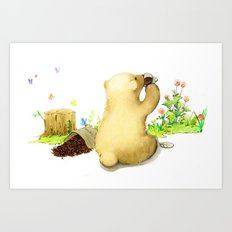 Coffee Bear Art Print