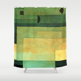 "Paul Klee ""The Firmament Above the Temple 1922"" Shower Curtain"