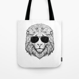 Lion with Sunglasses Party Animal Hipster cool Lions Tote Bag