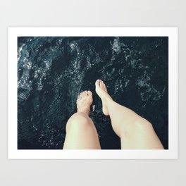 Lady Legs Art Print