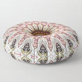 Delicate Pastel Pink Boho Mandala Floor Pillow