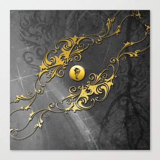 Awesome chinese dragon Canvas Print