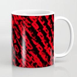 Red sublime metal pattern Coffee Mug