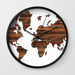 World Map 2 Wall Clock