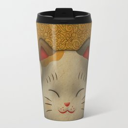 maneki-neko | Lucky Cat (White) Travel Mug