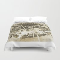 carousel Duvet Covers featuring Carousel by Barbara Northrup