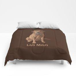 Lab Mom Fox Red Yellow Labrador Retriever Dog Comforters