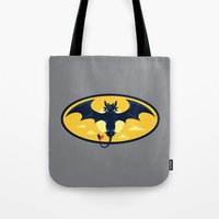 nightwing Tote Bags featuring Nightwing by Steven Toang