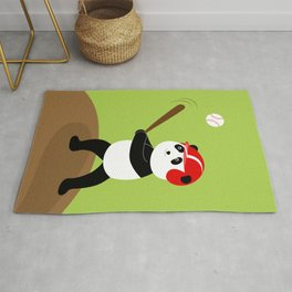 Play baseball together with a panda. Rug