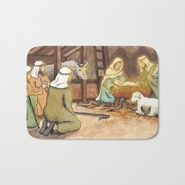 Christmas is Here Bath Mat