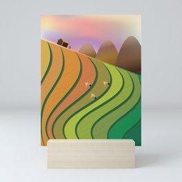 Terrace Fields Mini Art Print