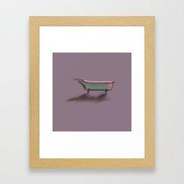 Bathtub Vintage Retro Art Deco// Shower Curtain Framed Art Print