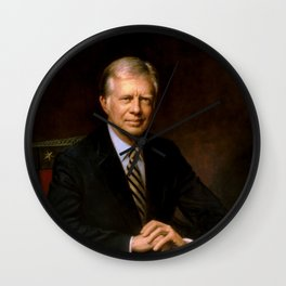 President Jimmy Carter Painting Wall Clock