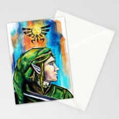 Link from the Legend of Zelda Painting. The Proud Hyrulian Warrior. Stationery Cards