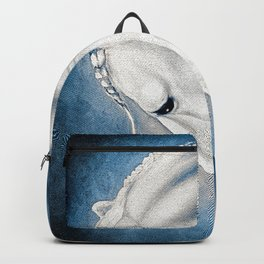 White Lusitano Blue Comic Style Backpack