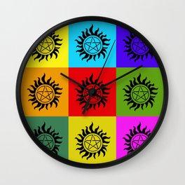Supernatural Color Block Wall Clock