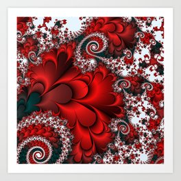 Red Sweetheart Fractal Art Print