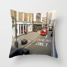 Ahead only Throw Pillow