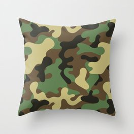 Classic Camouflage Pattern Throw Pillow