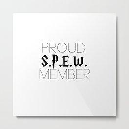 proud s.p.e.w. member // white Metal Print