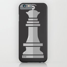 queen glance b&w iPhone Case