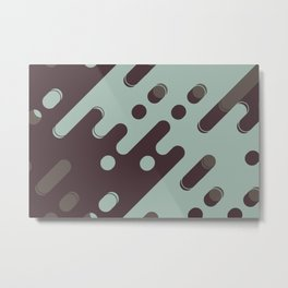 Diagonal rounded lines art Metal Print