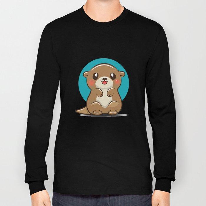 Otter Cute Long Sleeve T-shirt