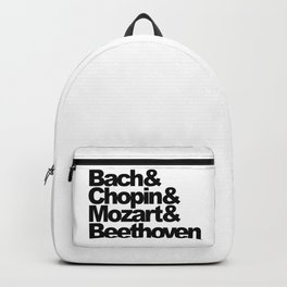 Bach and Chopin and Mozart and Beethoven Backpack