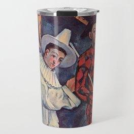 Paul Cézanne - Pierrot and Harlequin - Pierrot et Arlequin - Mardi Gras Travel Mug