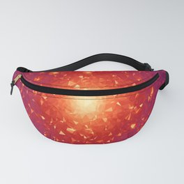 Missing Galaxies Low Poly Geometric Triangles Fanny Pack