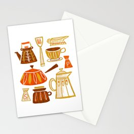 Mid Century Modern Kitchen Stationery Cards