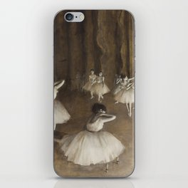 Ballet Rehearsal on Stage by Edgar Degas iPhone Skin