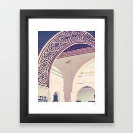 Bahia Palace Moroccan Arches Fine Art Print Framed Art Print