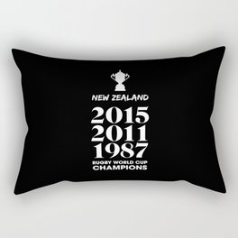 New Zealand Treble Rugby World Cup Champions Rectangular Pillow