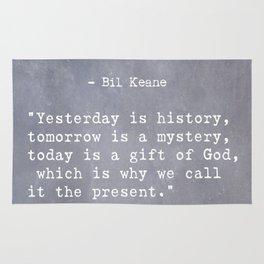 Bil Keane quote 2 Rug
