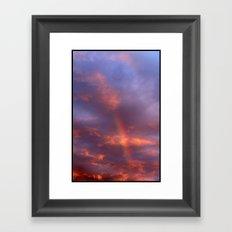 Dramatic Rainbow Framed Art Print