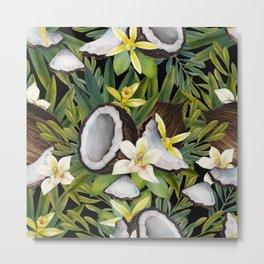 Watercolor vanilla & coconut Metal Print