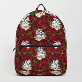 Heart and Roses_Love - Red Backpack