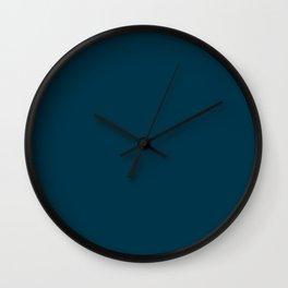 Dark Blue Green / Teal Wall Clock