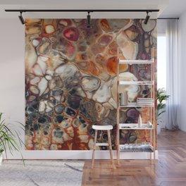 Earth Tones Granite Lava Flow Cells Wall Mural