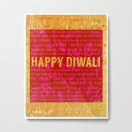 Happy Diwali Metal Print